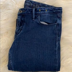 Madewell Skinny Blue Denim Distressed Jeans